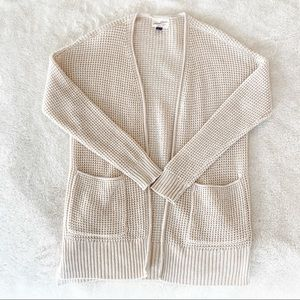 Universal Thread Cozy Cream Woven Cardigan